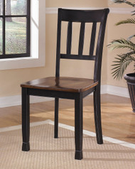Ashley Owingsville Black/Brown Dining Room Side Chair(Set of 2)