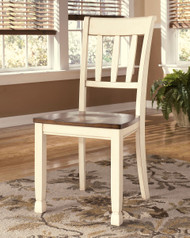 Ashley Whitesburg Brown/Cottage White Dining Room Side Chair(Set of 2)
