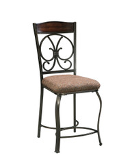 Ashley Glambrey Brown Upholstered Barstool(Set of 4)