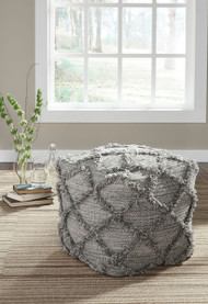 Ashley Adelphie Natural/Gray Pouf