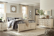 Ashley Bolanburg Two-tone 8 Pc. Dresser, Mirror, Chest, Queen Panel Bed & 2 Nightstands
