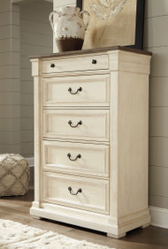 Ashley Bolanburg Two-tone Five Drawer Chest