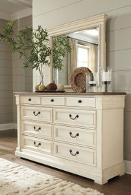 Ashley Bolanburg Two-tone Dresser & Mirror