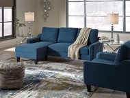 Incredible Ashley Jarreau Blue Sofa Chaise Sleeper On Sale At Red Shed Evergreenethics Interior Chair Design Evergreenethicsorg