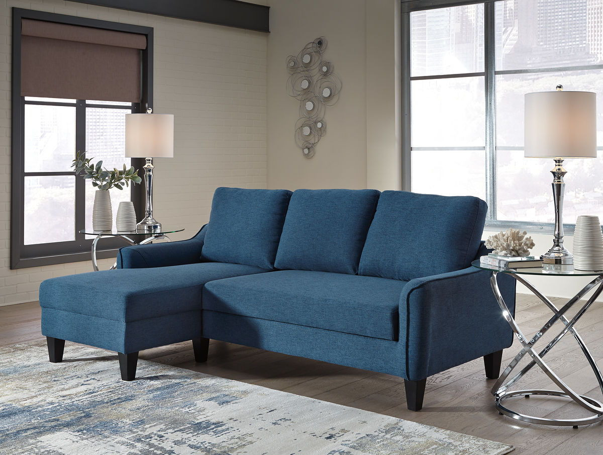 Ashley Jarreau Blue Sofa Chaise Sleeper
