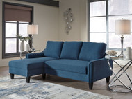 Jarreau Blue Sofa Chaise Sleeper