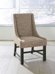 Ashley Sommerford Black/Brown Dining Upholstered Arm Chair (Set of 2)
