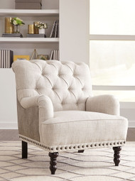 Ashley Tartonelle Ivory/Taupe Accent Chair