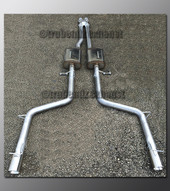 06-10 Dodge Charger Dual Exhaust - with Magnaflow - 2.25 inch