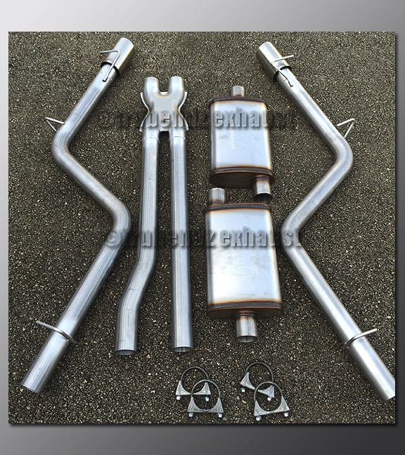 "06-10 Dodge Charger V6 Mandrel Dual Exhaust by TruBendz 2.25/"" 304 Stainless"