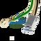 Closeup of power cord connectors