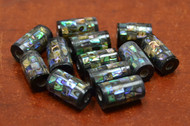 12 Pcs Round Abalone Shell Mosaic Beads 17mm