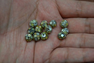 12 Pcs Round Mother of Pearl Shell Mosaic Loose Beads 8mm
