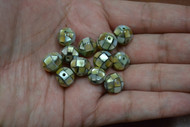 12 Pcs Round Mother of Pearl Shell Mosaic Loose Beads 10mm