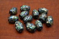 12 Pcs Abalone Shell Mosaic Tube Beads 20mm