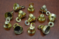 12 Pcs Gold Plated Jingle Christmas Decoration Charm Bells 1 1/2""