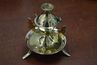 Handmade Brass Incense Burner Holder Lamp