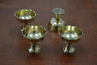 4 Pcs Handmade Brass Incense Burner Holder 2""