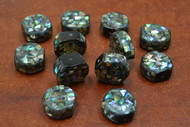 12 Pcs Abalone Shell Mosaic Loose Beads 3/4""