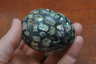 Abalone Mother of Pearl Shell Mosaic Egg
