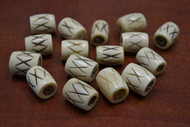 30 Pcs Carved Cross Brown Buffalo Bone Tube Beads