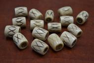 30 Pcs Carved Cross Brown Buffalo Bone Tube Beads