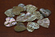 12 Pcs Heart Abalone Shell Sewing Two Hole Buttons 1 1/4""