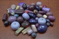 "100 Pcs Assort Purple Resin Plastic Beads 1/2"" - 1 1/4"""