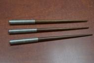 3 Pcs Handmade Silver Plated Rim Wood Hairsticks