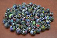100 Pcs Handmade Mulit-Color Round Glass Beading Beads 12mm