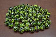 100 Pcs Handmade Yellow Round Glass Beading Beads 12mm