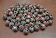 100 Pcs Handmade Red Round Glass Beading Beads 12mm