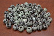 100 Pcs Handmade White Round Glass Beading Beads 12mm