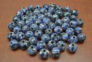 100 Pcs Handmade Blue Round Glass Beading Beads 12mm