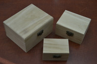 3 Pcs Set Handmade Brown Wood Keepsake Storage Wood Boxes