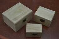 3 Pcs Set Handmade Brown Wood Keepsake Storage Wood Boxes
