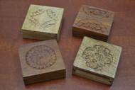 4 Pcs Set Handmade Brown Storage Keepsake Wood Boxes