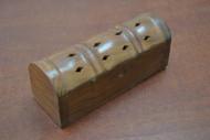 Handmade Brown Carved Incense Burner Wood Box