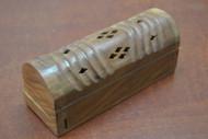 Handmade Carved Incense Burner Wood Box