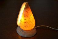 Spotted Orange Cone Sea Shell Table Lamp
