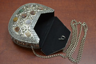 Handmade Gemstone Brass Clutch Metal Purse