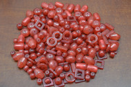 "400 Pcs Assort Red Resin Plastic Beading Beads 1/2"" - 1 1/4"""