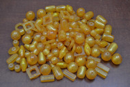 "400 Pcs Assort Orange Resin Plastic Beading Beads 1/2"" - 1 1/4"""