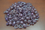 "400 Pcs Assort Purple Resin Plastic Beading Beads 1/2"" - 1 1/4"""
