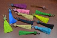 12 Pcs Assort Multi Color Silk Tassels