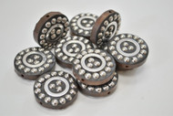 12 Pcs Round Handmade Silver Plated Metal Beading Beads