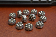 12 Pcs Round Handmade Silver Plated Metal Beading Beads 3/4""
