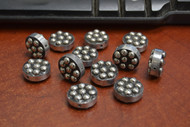 12 Pcs Round Handmade Silver Plated Metal Beading Beads 5/8""