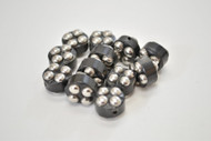 12 Pcs Circle Handmade Silver Plated Metal Beading Beads 5/8""
