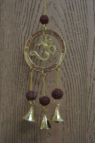 Handmade Hindu Rusty Metal Iron Windchime 12""